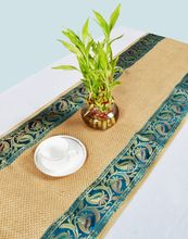 Designer Handmade Jute Brocade Style Traditional Table