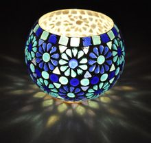 Indian Paint Design Candle Holder,