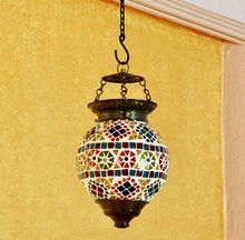 Multi Color Glass Ceiling Lamp