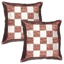 Silk Two Pieces Cushion Cover