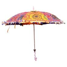 Vintage Style Cotton Hand Made Colorful Umbrella