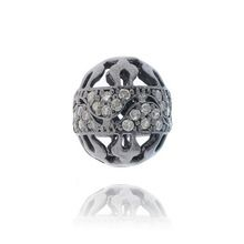 Pave Diamond Filigree Ball Beads