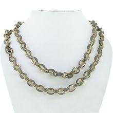Pave Diamond Link Chain Necklace