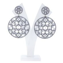 Rainbow Moonstone Pave Diamond Earrings
