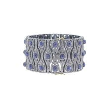 Silver Sapphire Wedding Wear Bangle