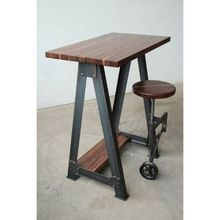 Iron Writing Desk with wooden top