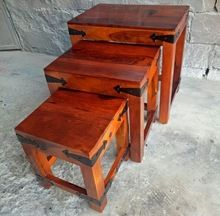 Folded Wood Nesting Tables