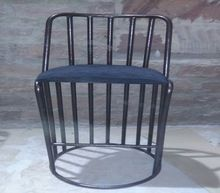 Metal Rod Bar Chair