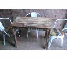 Recycle Wood Dining Table