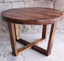 Round Rose Sheesham Wood Coffee Table R