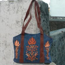 embroidery leather purse