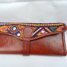 ethenic hand made real leather wallet