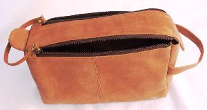 genuine leather cosmetic bag