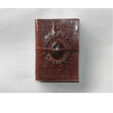 handmade leather journal embossed leather