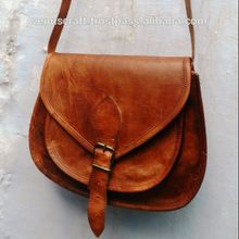 leather saddle sling bags