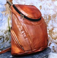 leather vintage style back pack bags