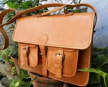 pure leather messenger bag/real leather satchel bags for laptop