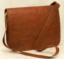 Real goat leather small size cross body shoulder bag