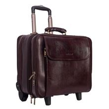 Vintage Style Real leather trolley