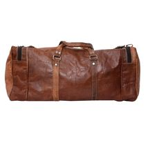 Vintage Style Real leather trolley language travel bags