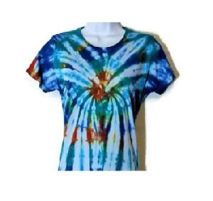 Multi-color Tie-dye Rayon Top