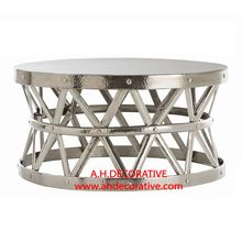 Hammered Drum Cross Coffee Table