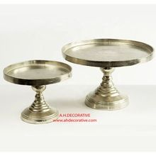 Rough Silver Metal Cake Stand
