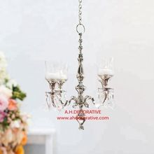 Silver Chandelier With Glass Votive