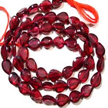 red garnet beads gemstone