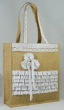 Jute Bag with Lace,