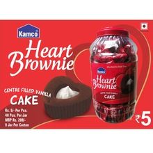 Heart Brownie Cake