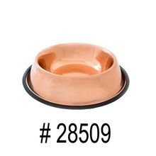 Copper Plated Stainless Steel Pet Dog Bowl Feeder