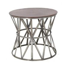 Hammered Silver Aluminum Side Table