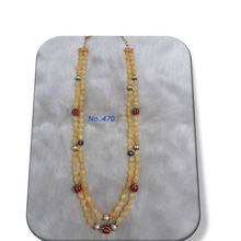 Beautiful Yellow pearls charm Necklace
