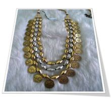 Indian Brass Metal Fashion Necklace Coloured