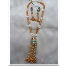 Indian gheru necklace