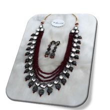 semi precious necklace with kundan