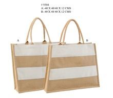 DESIGN JUTE SHOPPING BAGS ECO FRIENDLY
