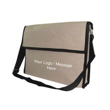 JUTE CONFERENCE PROMOTIONAL COURIER BAG