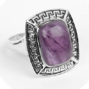 Amethyst Gemstone Silver Ring