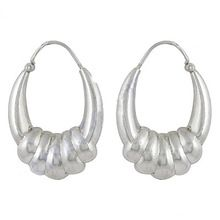 Cute Plain Silver Jewelry Hoop Earrings