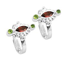 Garnet and  Peridot Gemstone
