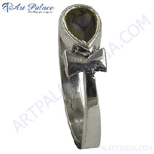 Iolite Gemstone Silver Ring