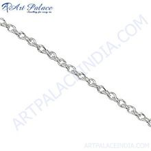 Pure Stainless Simple Plain Silver Chain
