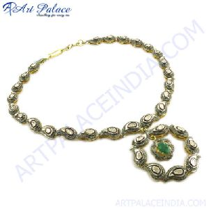 Victorian jewelry Gold Plated Necklace