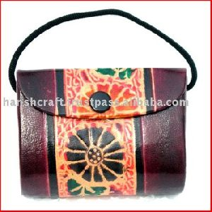 Printed Leather Bag