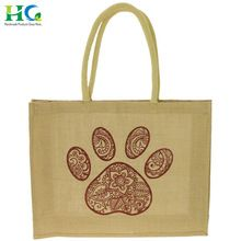 Printed Organic Small Jute Tote Bag