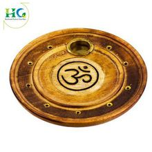 Wooden Round OM Incense Stick