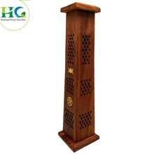 Wooden Tower Incense Holder