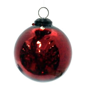 Antique Red Hanging Ball